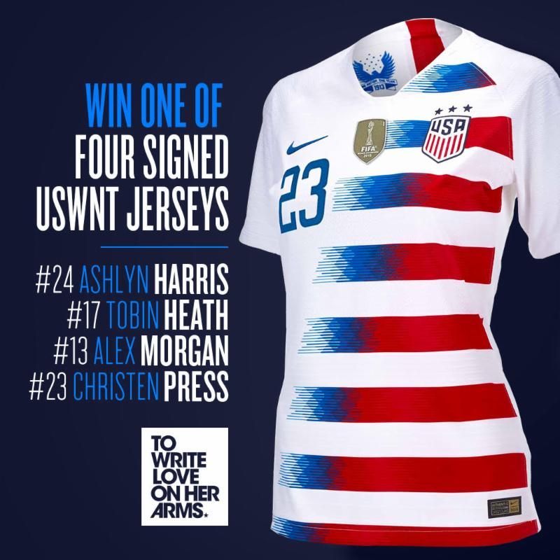 the latest e5be2 c704c TWLOHA Partners with Members of USWNT For Exclusive Raffle ...