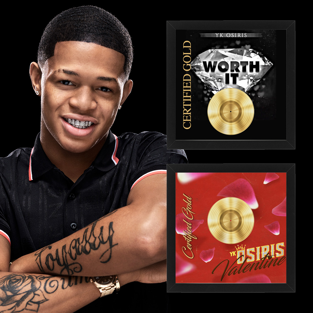 "YK OSIRIS EARNS BACK-TO-BACK GOLD SINGLES FOR ""WORTH IT"" AND"