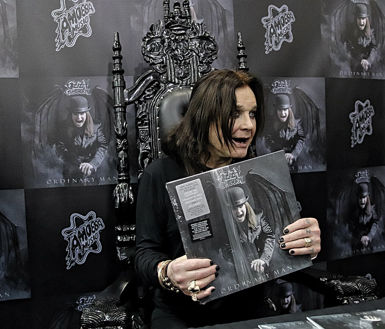 Ozzy Osbourne Signing At Amoeba