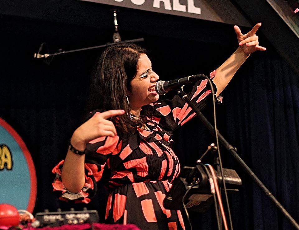 Angelica Garcia at Amoeba