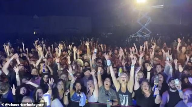 Chase Rice Played A Packed Concert