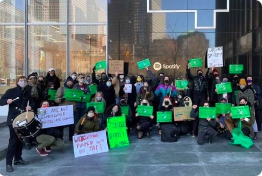 Justice At Spotify Protests