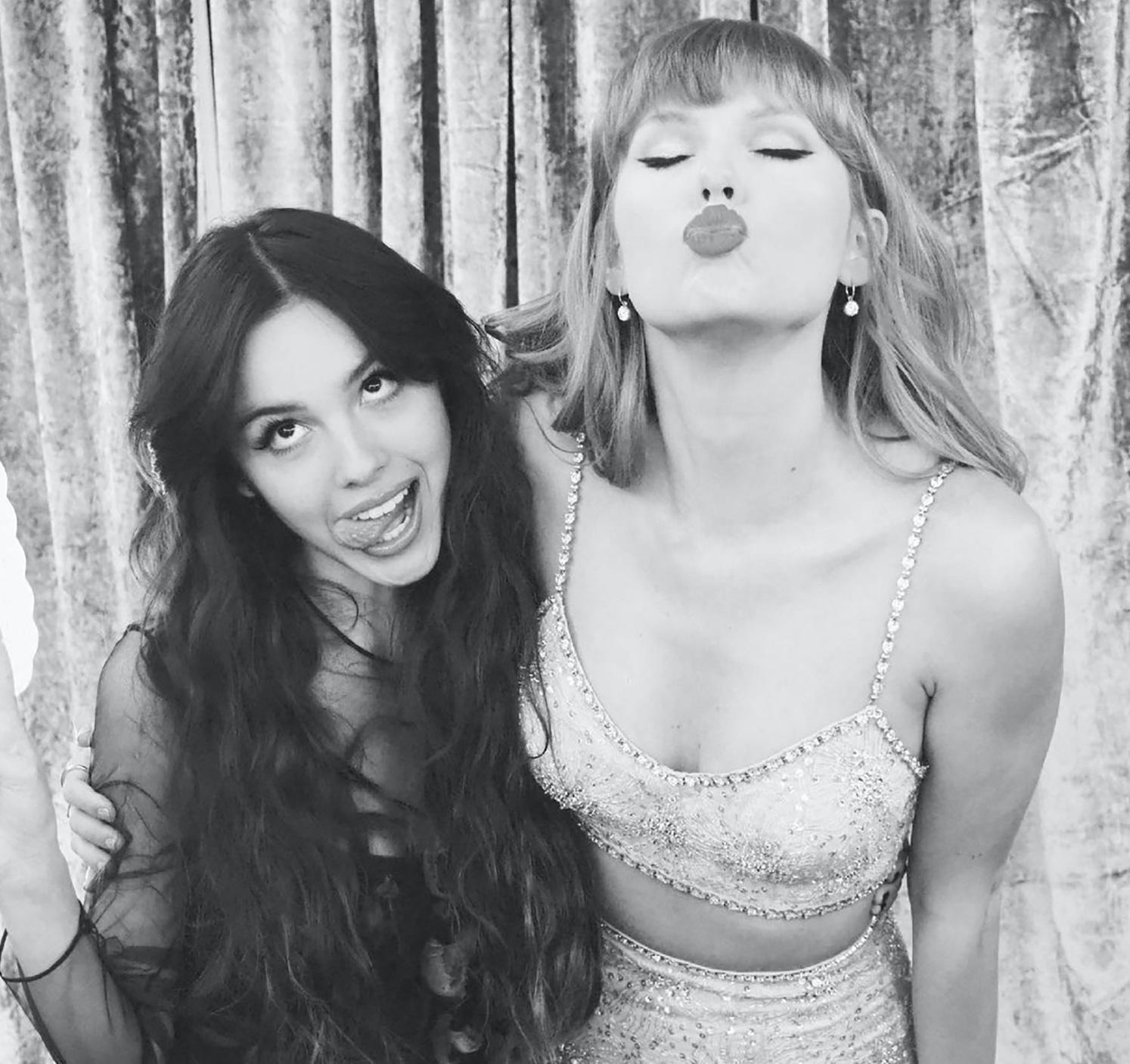 Olivia Rodrigo and Taylor Swift