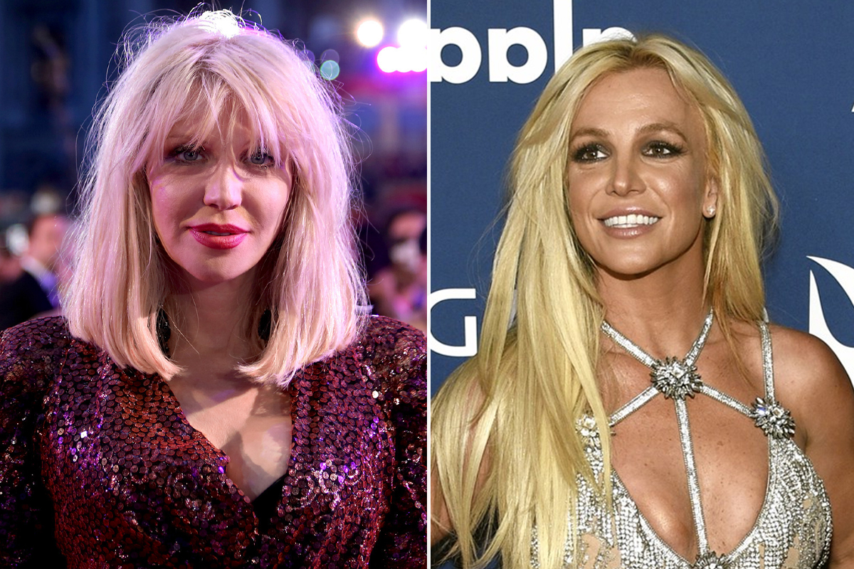 why is Courtney Love so interested in Britney Spears's story